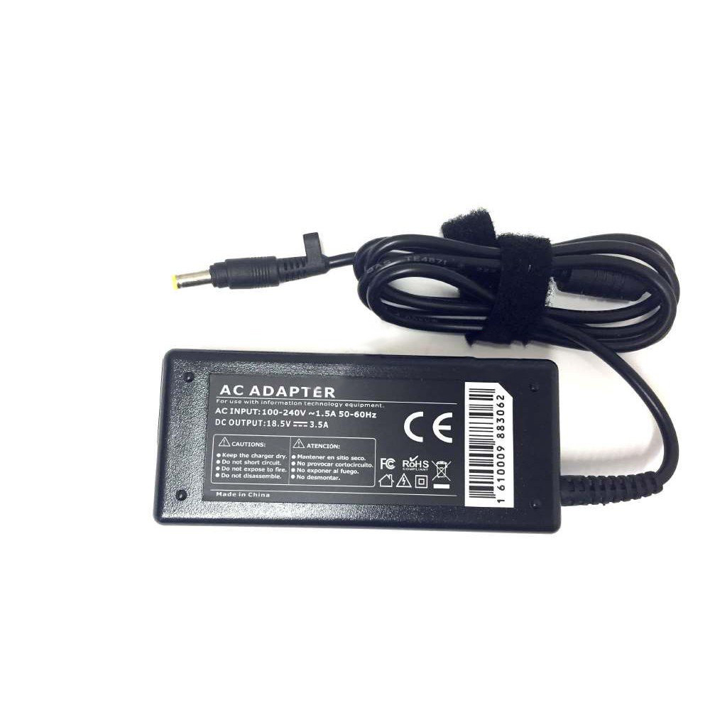 HP Compatible 18.5v 3.5A 65W 4.8x1.7mm tip