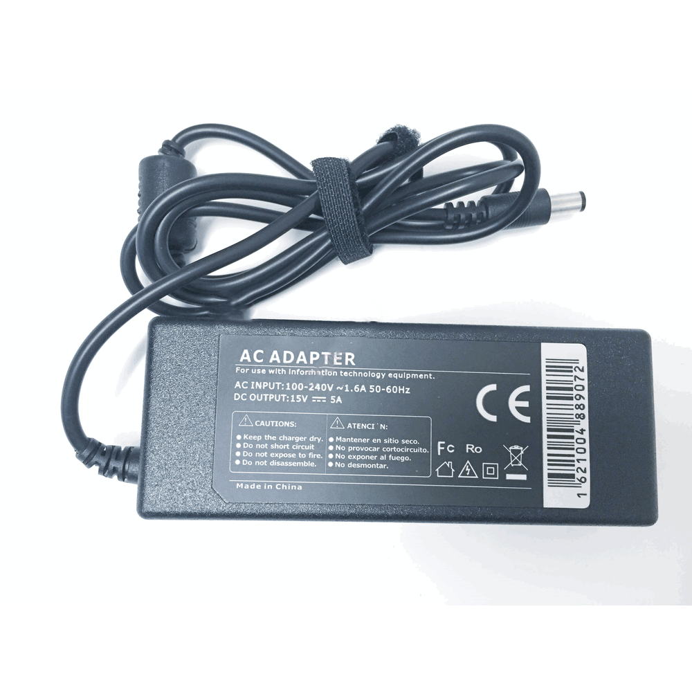 Toshiba Compatible 15V 5A 75W 6.3x3.0mm tip
