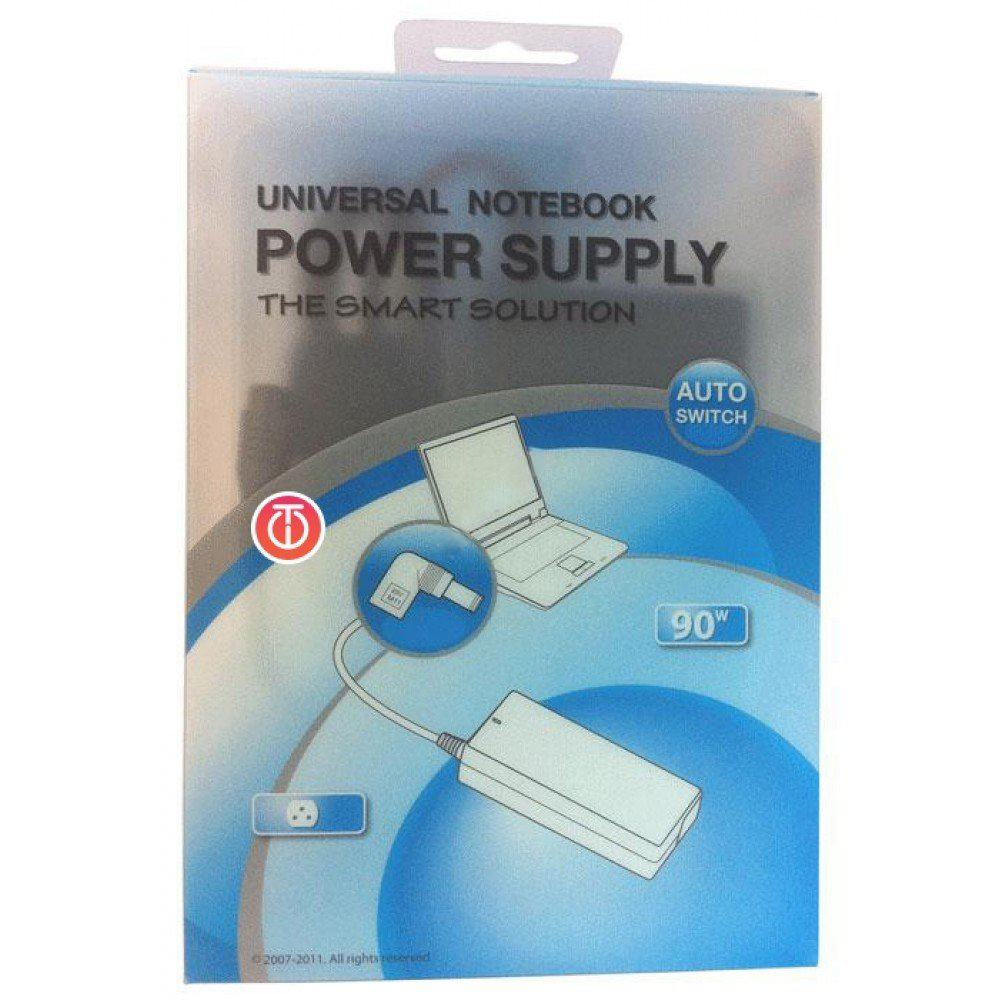 Universal 90W AC Power Supply Adapter with 8 Adapters for Laptop/Notebook