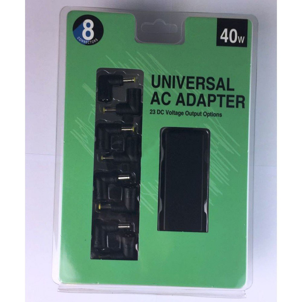 40W Universal Netbook Power Adapter 8 Tip