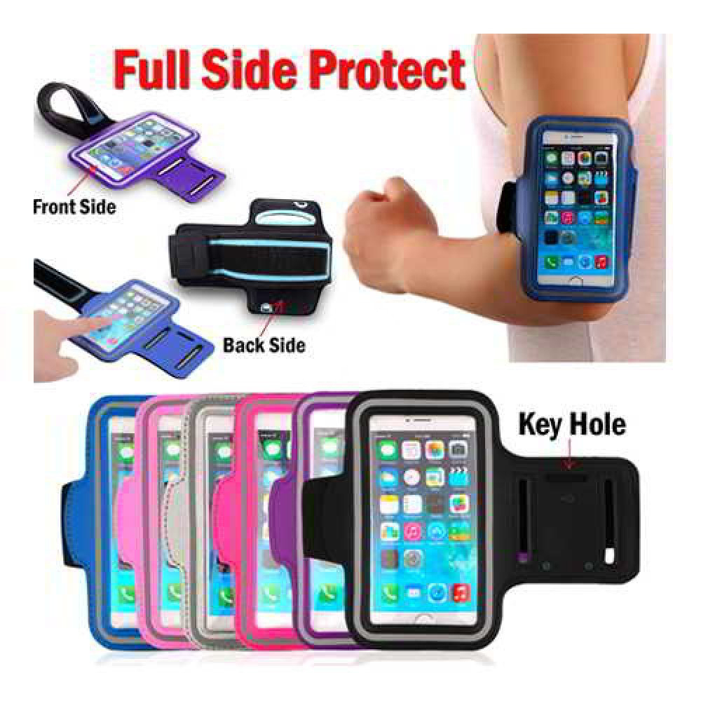 Gym Running Jogging Arm Band Sports Armband Case Holder Strap(Black) for iPhone 6/7/8 Plus