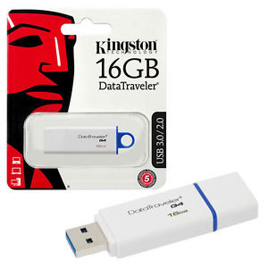 Kingston DataTraveler G4 16GB USB 3.0 Flash Drive DTIG4/16GB