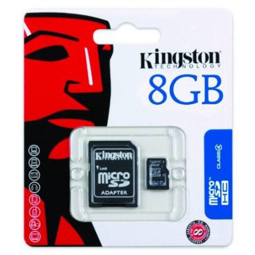Kingston 8GB MicroSDHC Flash Memory Card Class 4 (SDC4/8GB)