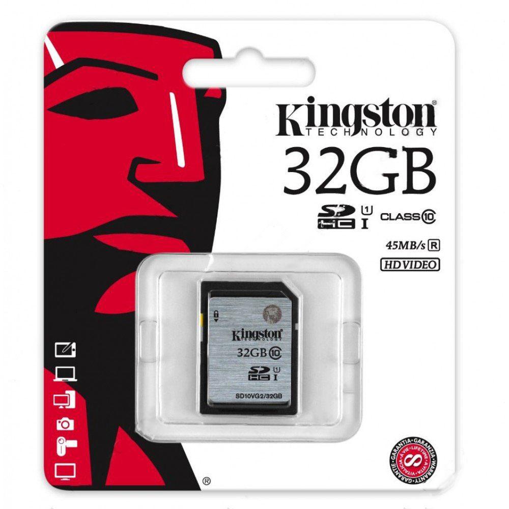 Kingston 32GB SDHC SD Card Class 10 UHS-I Model SD10VG2/32GB