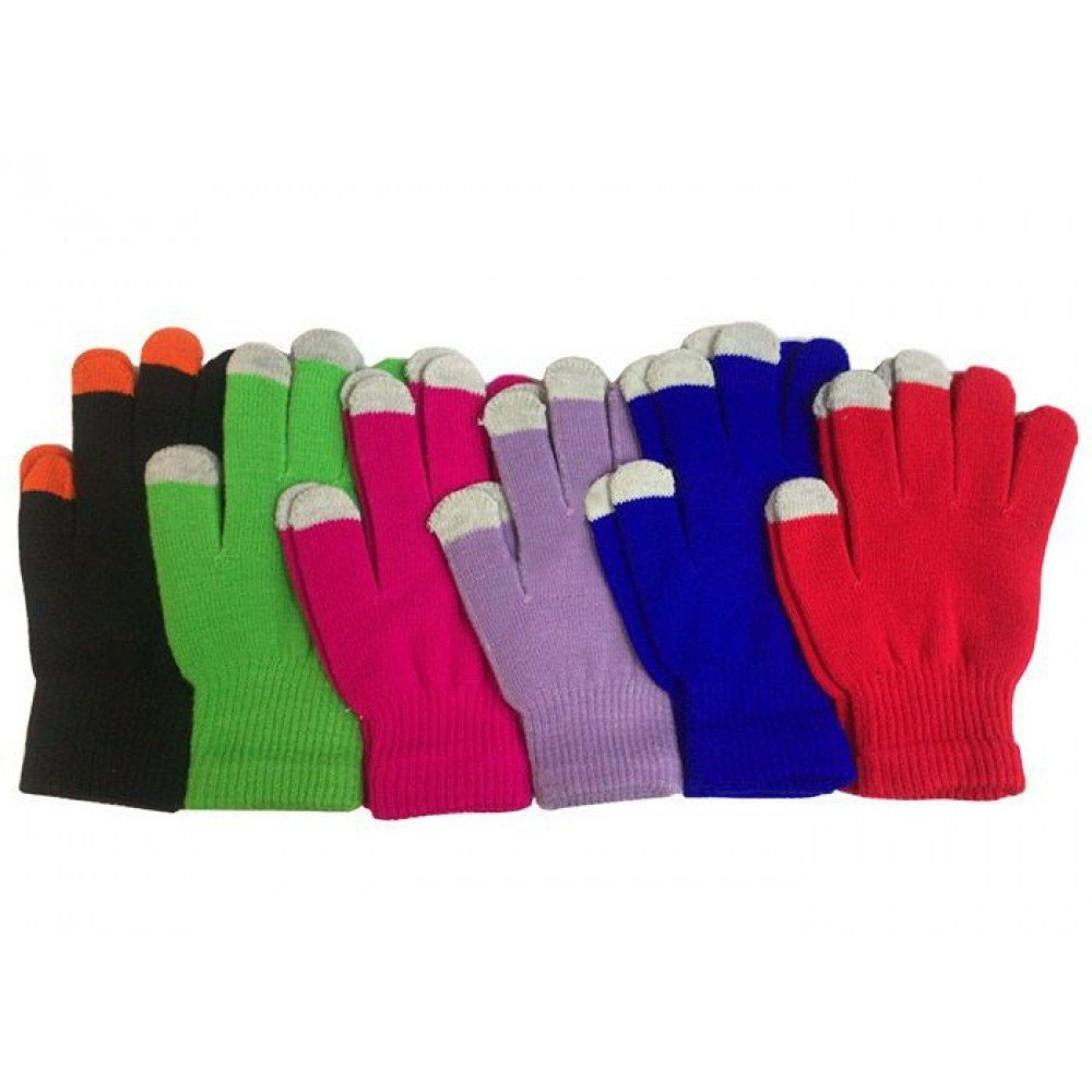 Touch Screen Winter Knitted Gloves Ladies Men's Kids for Smart Phone Tablet Magic