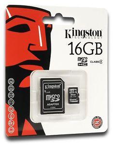 Kingston 16GB MicroSDHC Flash Memory Card Class 4 (SDC4/16GB)