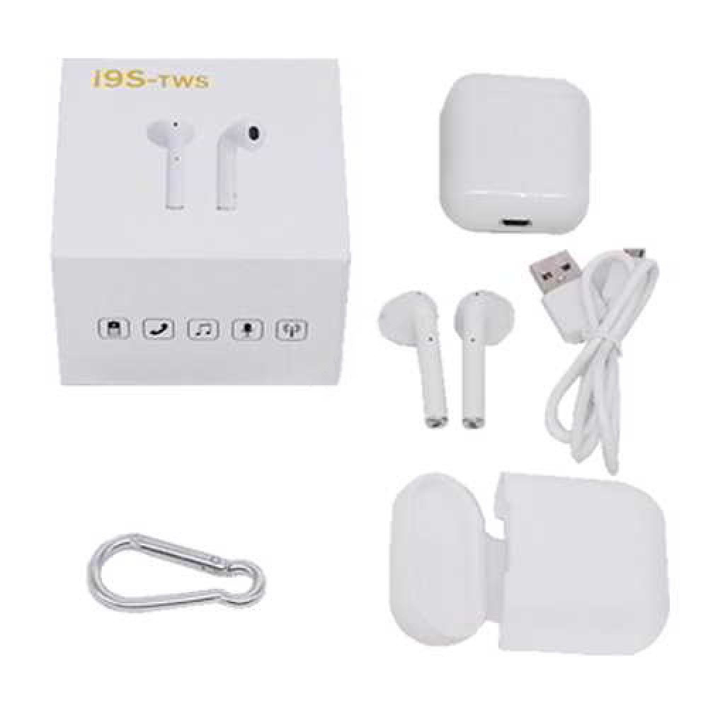 TWS i9S Bluetooth Double Earbuds with Charging Pot (White)
