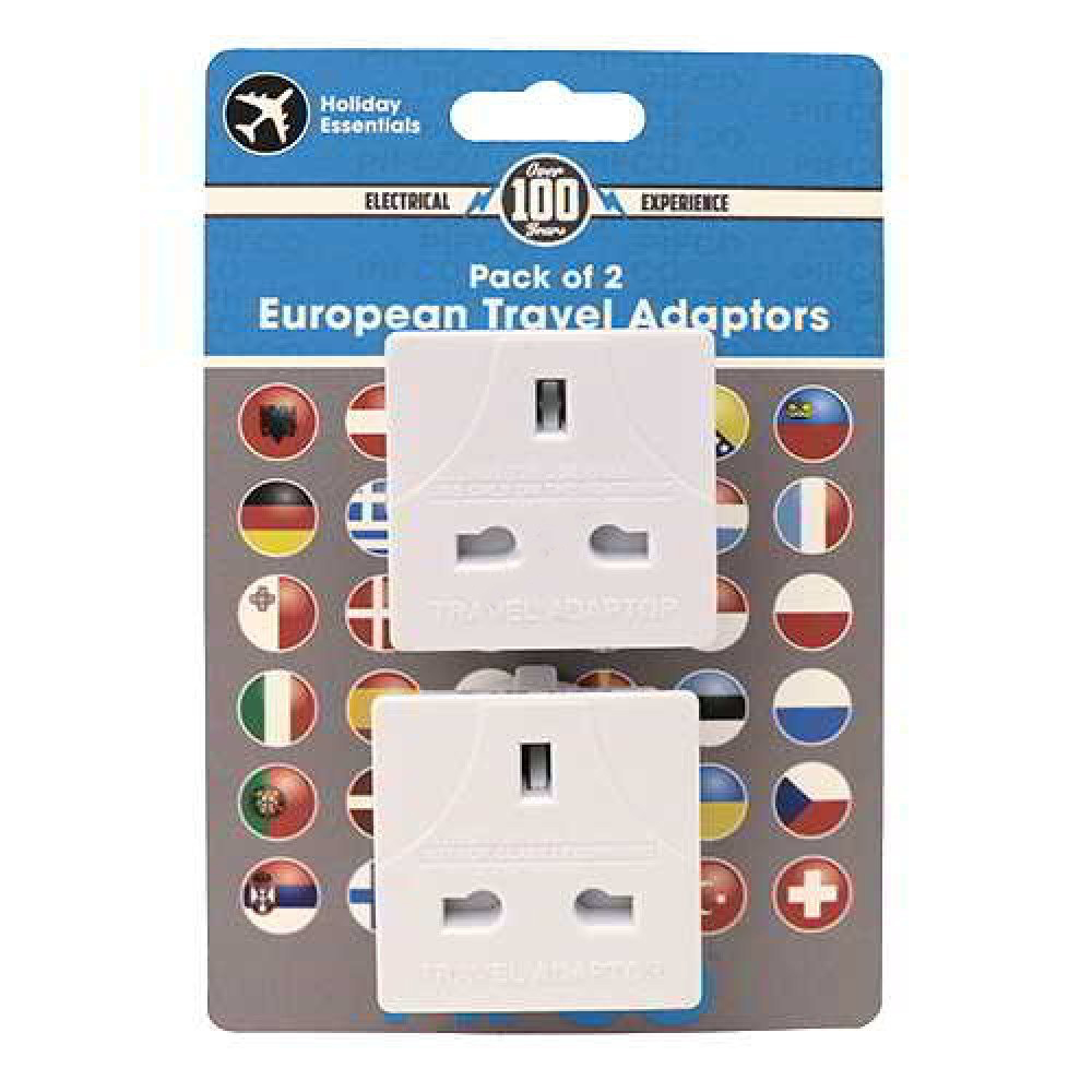 Continental Travel Adapter Twin Pack (2pin)