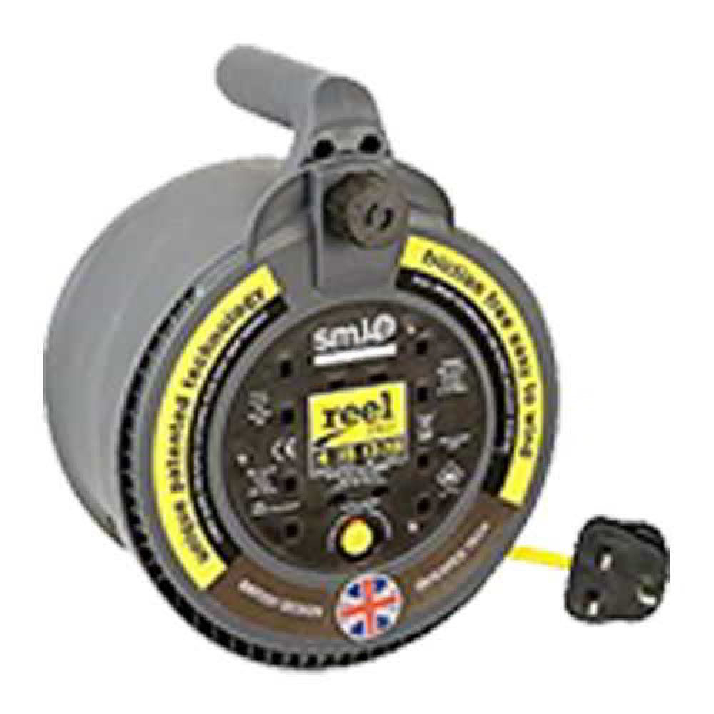 SMJ CP0413 4 WAY 4M 13A Pro Cable Reel - Black/Yellow