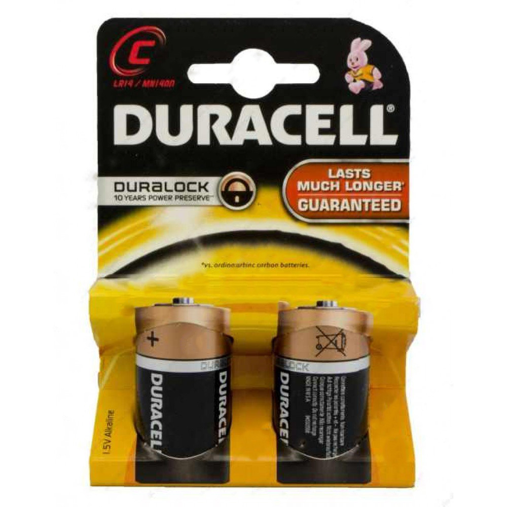 Duracell Basic C Battery - Pack of 2