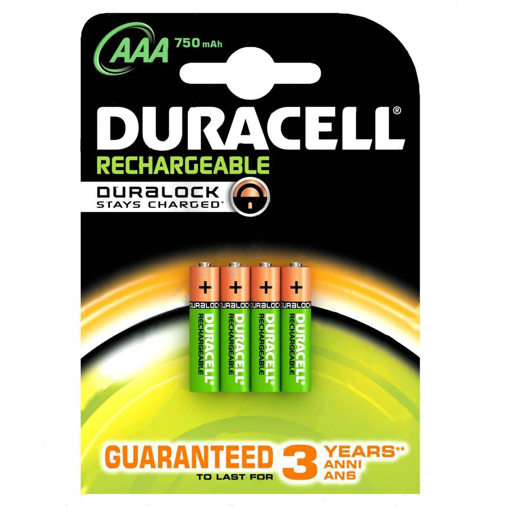 Duracell 81364750 Rechargeable AAA 750mAh Battery Pack of 4
