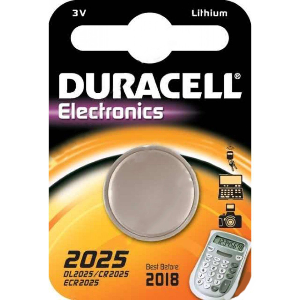 DURACELL DL2025 single carded 3V Lithium Battery