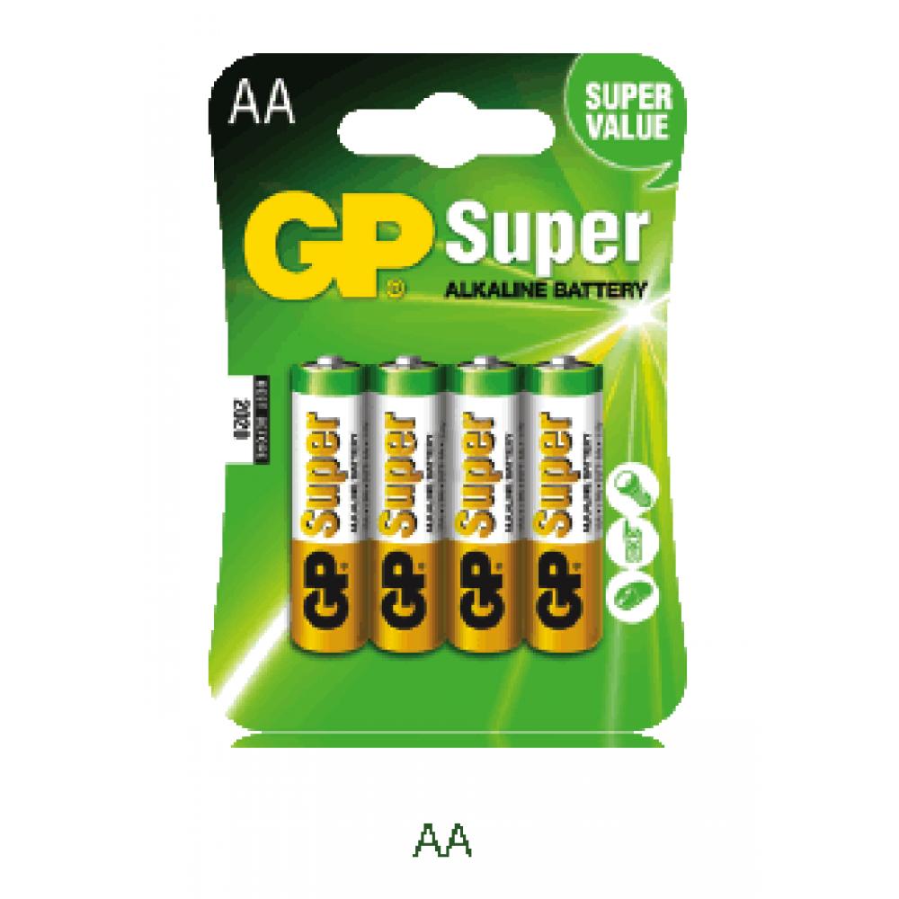 GP LRR6B4 AA 4Pack Super Alkaline Battery