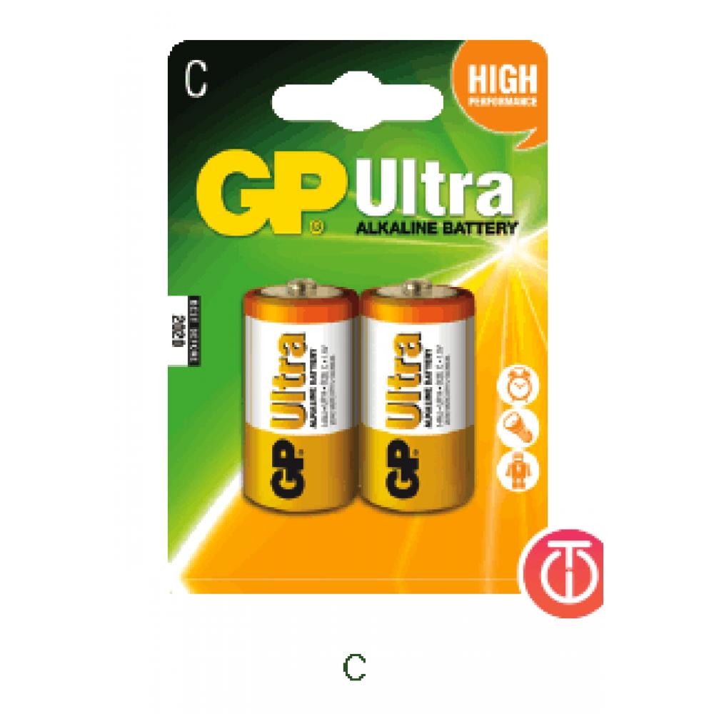 GP LR14B2 C 2Pack Ultra Alkaline Battery