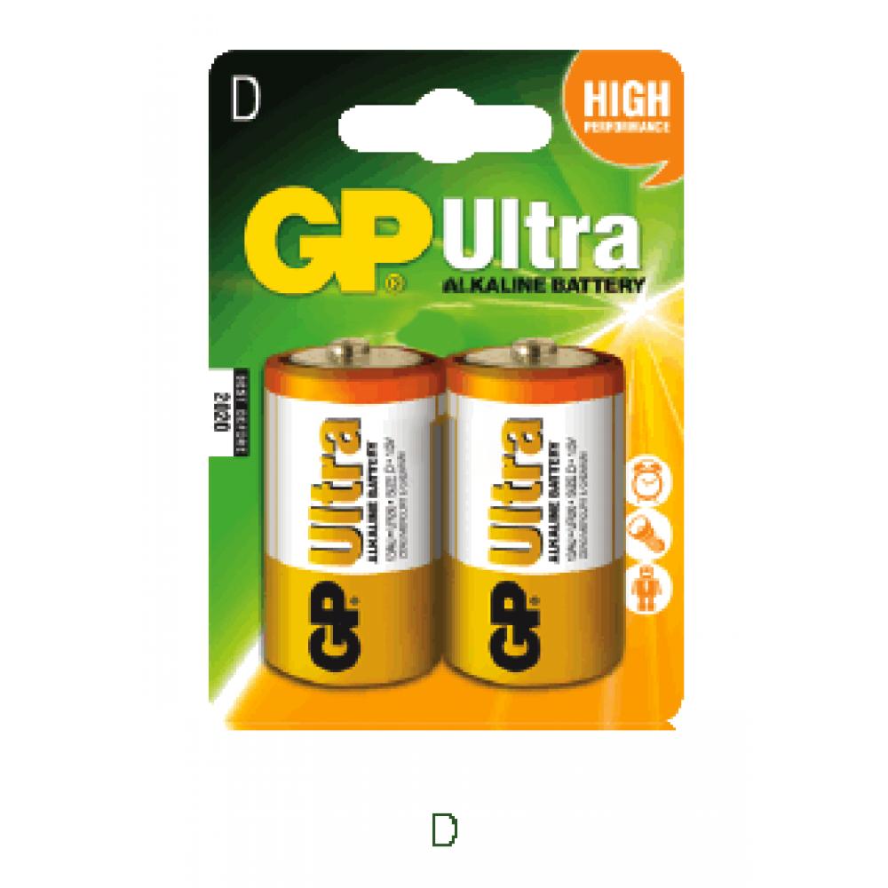 GP LR20B2 D 2Pack Ultra Alkaline Battery