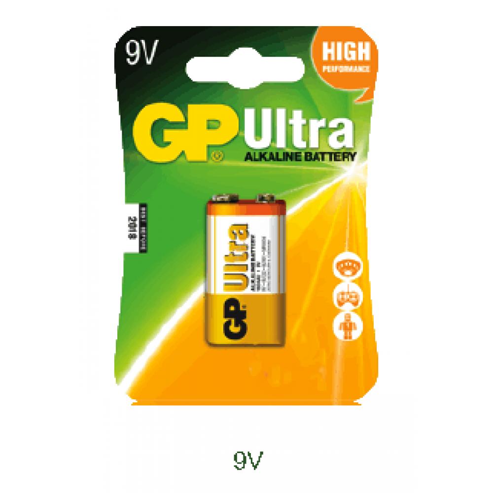 GP 6LR61B1 9V 1Pack Ultra Alkaline Battery