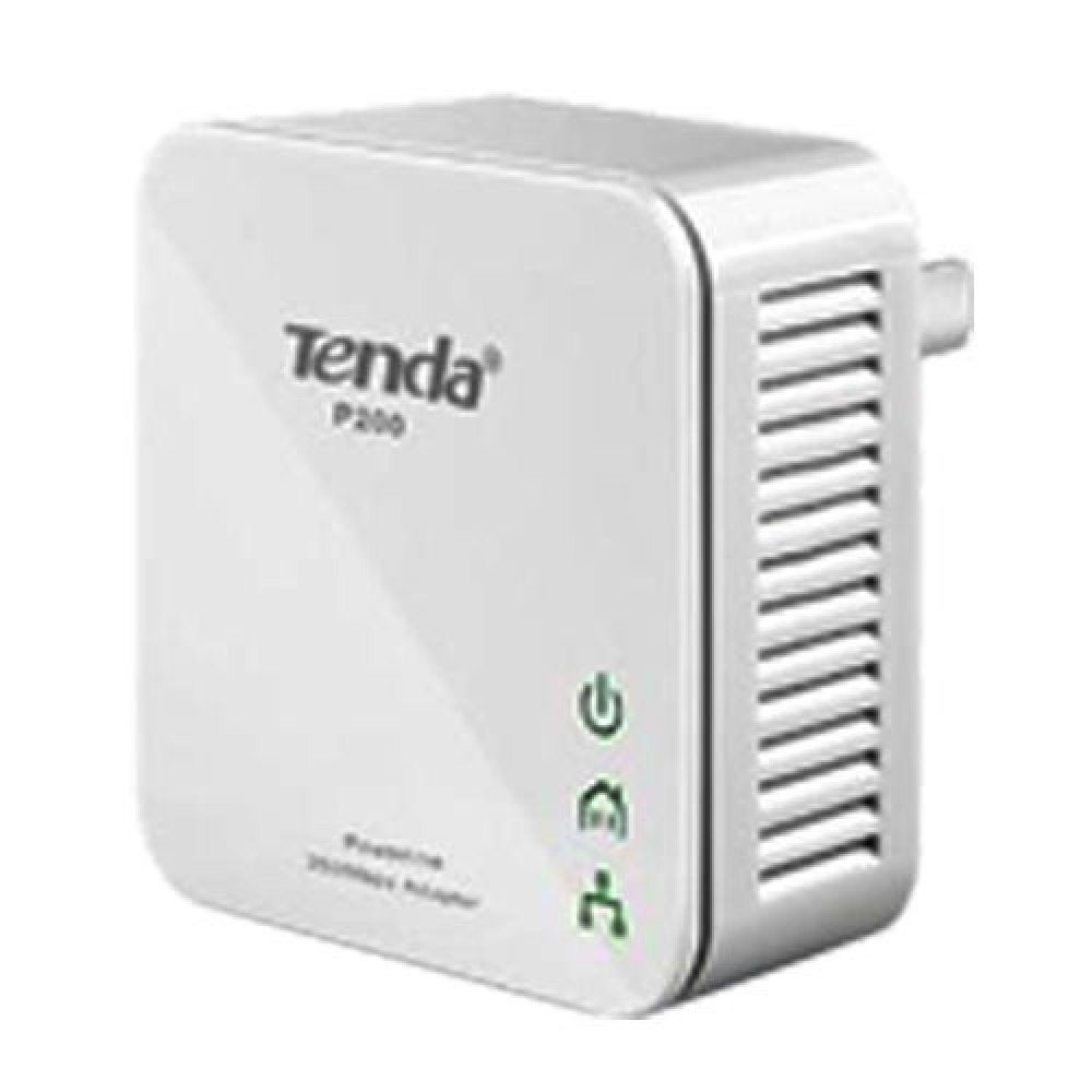 Tenda P200 200Mbps PowerLine Mini Adapter Twin Pack Kit