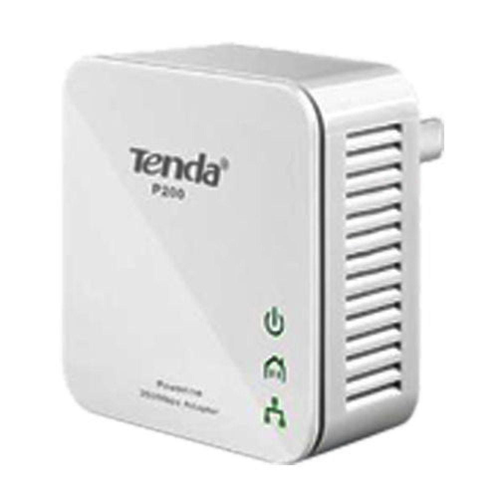 Tenda P200 200Mbps PowerLine Mini Adapter Twin Pack Kit