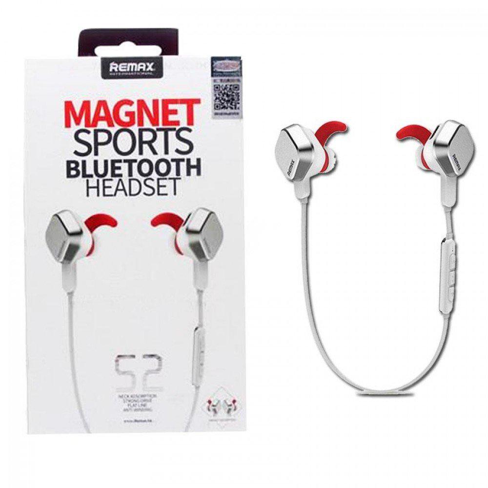 Remax S2 Magnet Sports Wireless Bluetooth Headset Stereo Headphone Mic Handsfree