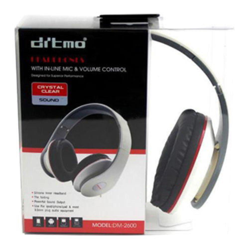 Ditmo DM-2600 Adjustable Foldable On Ear Stereo Headphones